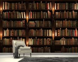 Bookcase and Candles Mural Wallpaper