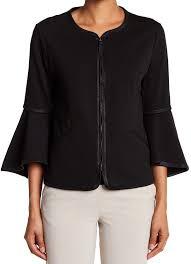 max studio coats jackets max studio womens medium bell sleeve ponte knit jacket com