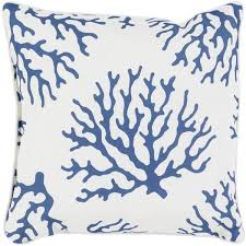 Coral Blue Outdoor Throw Pillow – Sky Iris