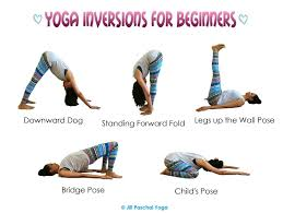 in yoga the word inversion is used to describe any asana pose where the head is below the heart most of us think of headstand handstand or one of these