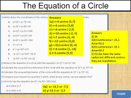 the equation of a circle