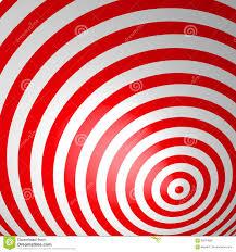 Rode Volumetrische Gestreepte Achtergrond Concentrische Cirkels Rood