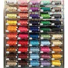 Sewing Machine Moon Thread From Coats Germany X 48 Assorted Cones Of 1000 Yards Of Popular Colour Polyester Thread