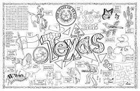 Texas Coloring Sheets