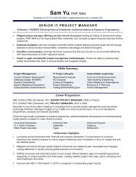 Product Managementume Keywords Objectives Examples Project Skills