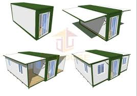 Foldable Houses Factory Direct Supply Movable Prefabricated Expandable Foldable Container Houses For Office