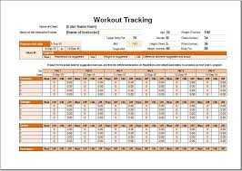 workout schedule and tracker template