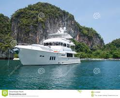 Tropical Island Yacht Luxury Yacht At Tropical Island Royalty Free Stock Image Image
