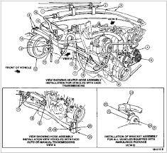 1997 f 250 350 super duty heater hose installation 7 3l 445 cid diesel engine heater hose routing same out a c
