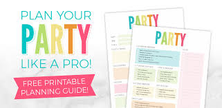 Bring Your Birthday Party Ideas To Life Free Printable