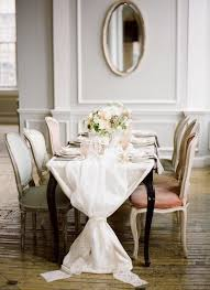 table runners are also significantly easier to sew and cut than attempting diy tablecloths which can get tricky for long or round tables
