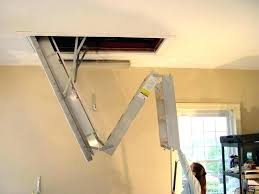 ladder attic door knee wall access garage stairs vs pull folding insulated ceiling
