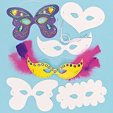 Card Masks To Decorate Strong Card Carnival Masks 60 Assorted Designs for Children to 33