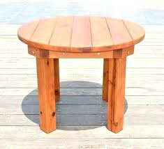 outdoor wooden furniture plans free outside table tables pertaining to medium size of round wood patio