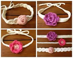 Crochet Baby Headband Pattern Beauteous Crochet Flower Headband Pattern Baby Crochet And Knit