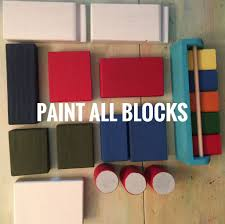 picture of paint wooden pieces
