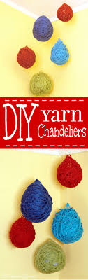diy yarn chandeliers are a fun and easy diy craft that is perfect for diy home