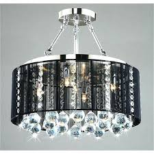 crystal chandelier with black drum shade edrexco with regard to new household crystal chandelier with black drum shade decor home dining room