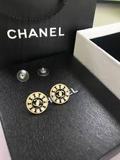 chanel earrings price. chanel vintage cc logos earrings gold plated crystal chanel price