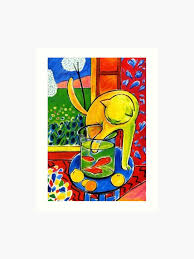 Matisse Colour Chart Henri Matisse Le Chat Aux Poissons Rouges 1914 The Cat With Red Fishes Artwork Men Women Youth Art Print
