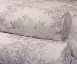 toile de jouy lilac bedspread