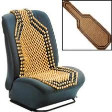 beaded wooden front mage seat chair cover cushion car office home