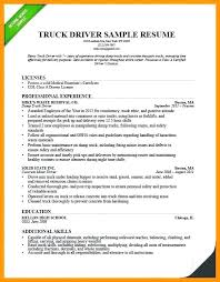 Sample Resume For Truck Driver Enchanting Objective For Truck Driver Resume Mmventuresco