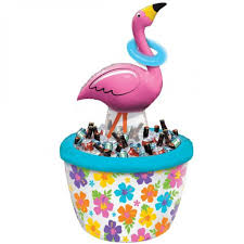 Table Drinks Cooler Inflatable Cooler Ring Toss Flamingo Drink Coolers