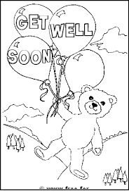 get well soon message teddy printable 'get well soon' colouring pages on get well soon coloring pages for kids