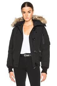 Image 1 of Canada Goose Chilliwack Bomber with Coyote Fur in Black