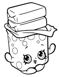 Bobby Bubble Gum Shopkin Målarbok Punch Needle Patterns Shopkins