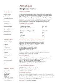 ... Strikingly Ideas Medical Front Desk Resume 6 Medical Receptionist CV  Template Job Description Resume Sample ...