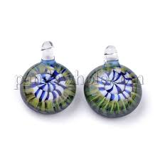 handmade lampwork glass pendants pyrex half round 00ngjt
