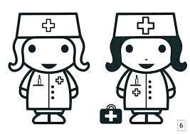 Nurse Coloring Pages For Preschool N Is For Nurse Coloring Page Free