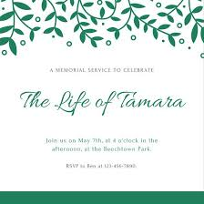 memorial service invitation customize 40 funeral invitation templates online canva