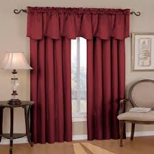 eclipse canova blackout 63 in l polyester curtain panel in burdy 10299042x063bu the home depot