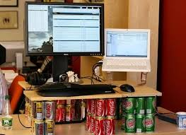 Soda Can Standing Desk