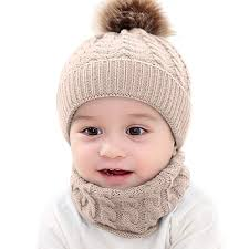 2PCS Toddler Baby <b>Knit Hat Scarf Winter</b> Warm <b>Beanie Cap</b> with ...