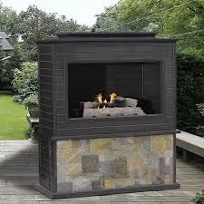 outdoor gas fireplace kits