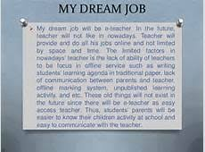 dream job essay to achieve my dream job essay page zoom in