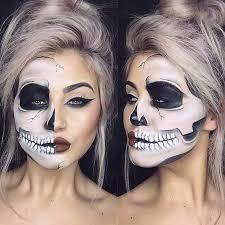 half skull makeup look