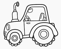 Tractor Transportation Coloring Pages For Kids
