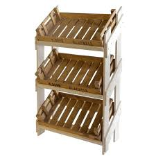 Wooden Fruit Display Stands Awesome Wooden Display Stand 32 Reclaimed Chitting Trays Retail Display