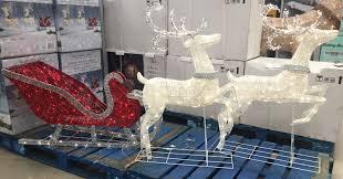 2 of 7 reindeer sleigh 400 led lights indoor outdoor garden decoration 2 deer