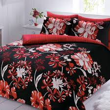 pieridae linear fl red black super king duvet cover quilt within and covers ideas 14