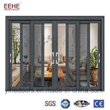 china balcony aluminum sliding glass door with mosquito net for optional china sliding glass door exterior glass doors