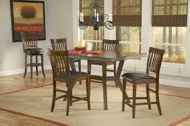 rustic candelier over 5 pieces wooden dining set with square table also black leather seat kitchen counter height in white dining room design