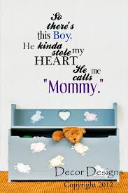 Small Picture So Theres This Boy Mother And Son Quote Vinyl Wall Decal Sticker by