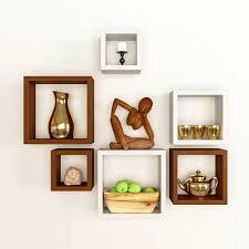 wall furniture shelves. Artesia Decorative Wooden Shelves 6 Pcs Set Wall Furniture