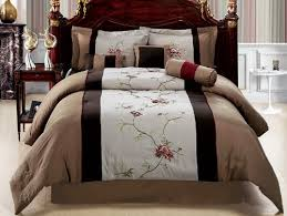 cal king comforter. New Bedding Coffee Brown Embroidered Comforter Set-Queen King Cal Curtain Sheet In Home \u0026 Garden, Bedding, Bed-in-a-Bag C